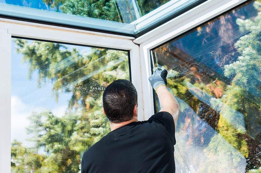 Reinigung der Fenster von Wintergärten in Frankfurt